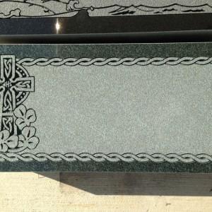 Flush marker 2 Imperial Green celtic cross shamrocks
