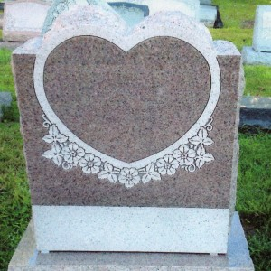 Imperial Pink Single Upright Heart Panel with Floral carvings #120