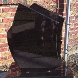 """Imperial Black Single Upright Contemporary """"Sails"""" #124"""